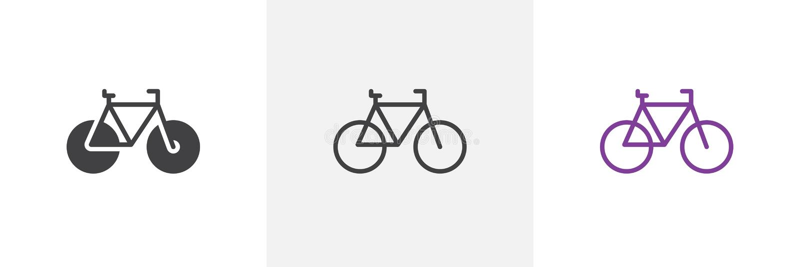 Rower, rowerowa ikona ilustracji