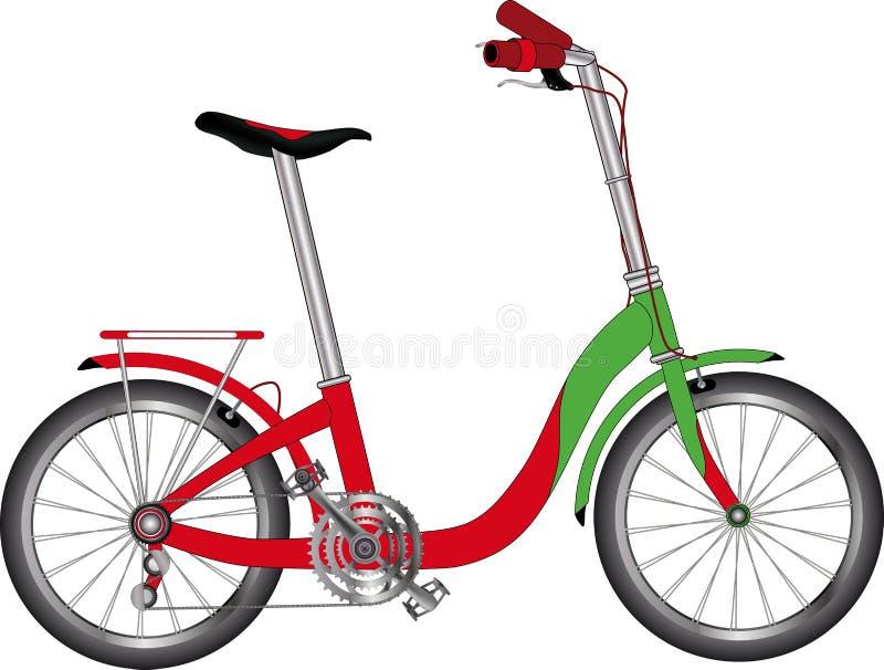 rowerowa droga ilustracja wektor