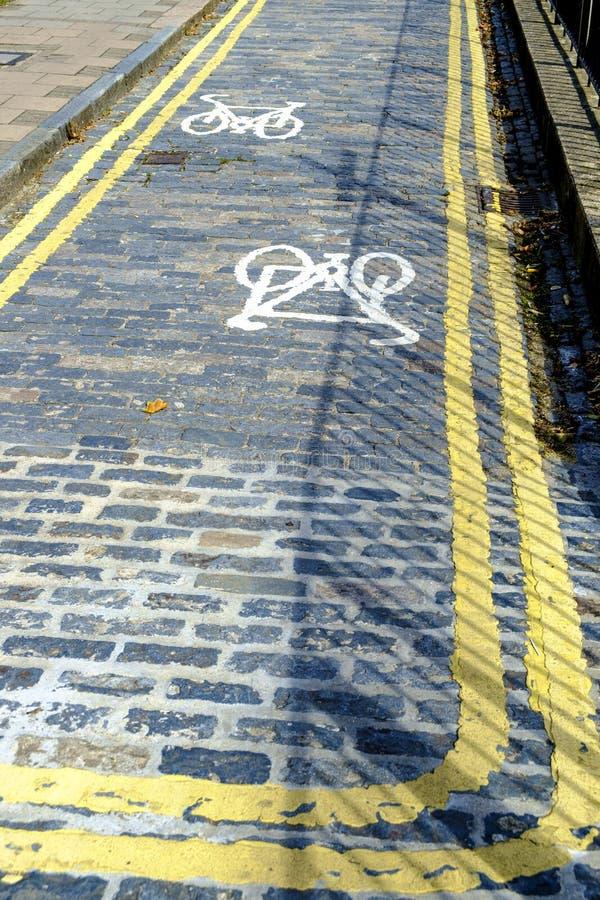 Rowerowa trasa w Londyn, Anglia obraz stock
