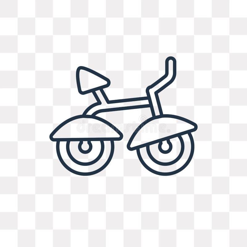 Rowerowa wektorowa ikona odizolowywająca na przejrzystym tle, liniowy b ilustracja wektor