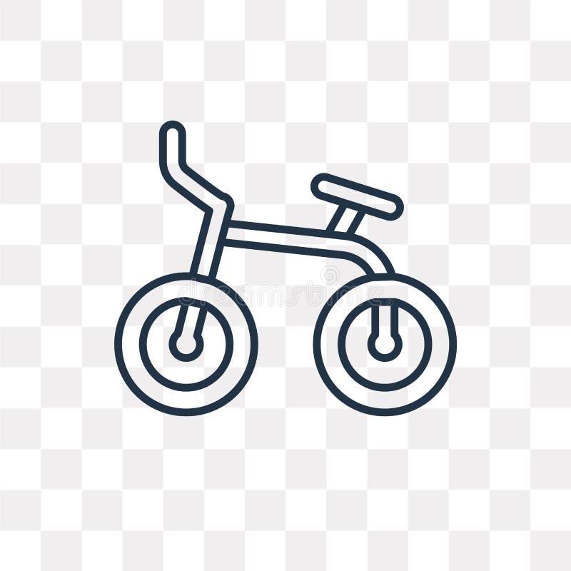 Rowerowa wektorowa ikona odizolowywająca na przejrzystym tle, liniowy b royalty ilustracja