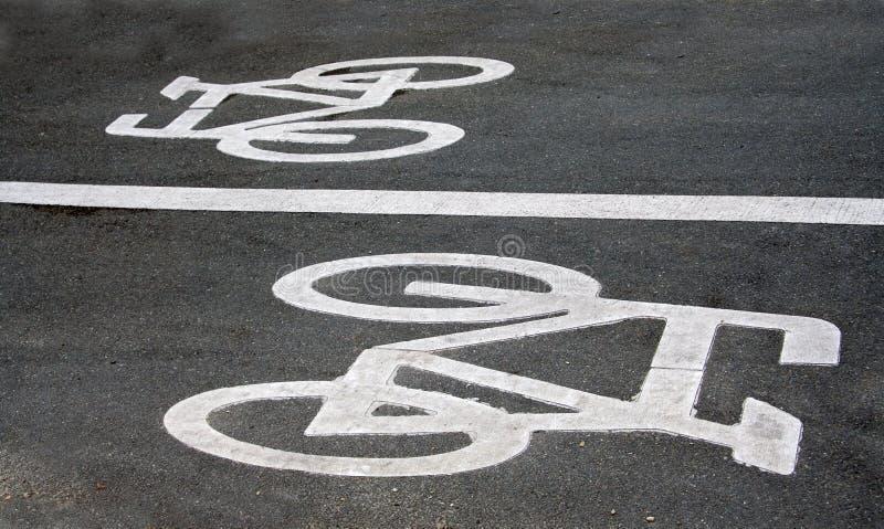 rowerowi drogowi znaki obrazy royalty free