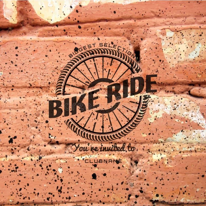 Rowerowi odznaka logowie, etykietki dla żadny i używają ilustracja wektor