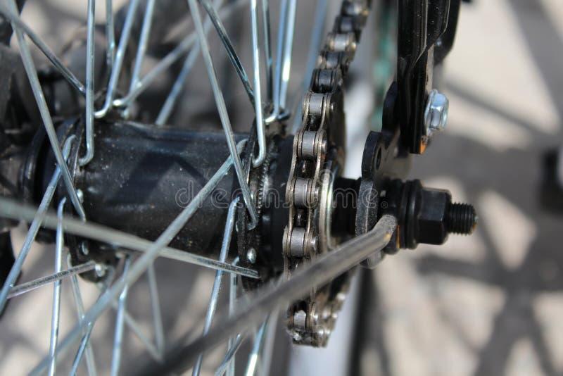 rowerowi zamknięci szczegóły zamknięty toczą obraz royalty free