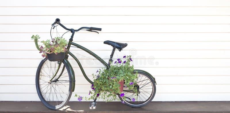 rowerowy czarny stary fotografia stock