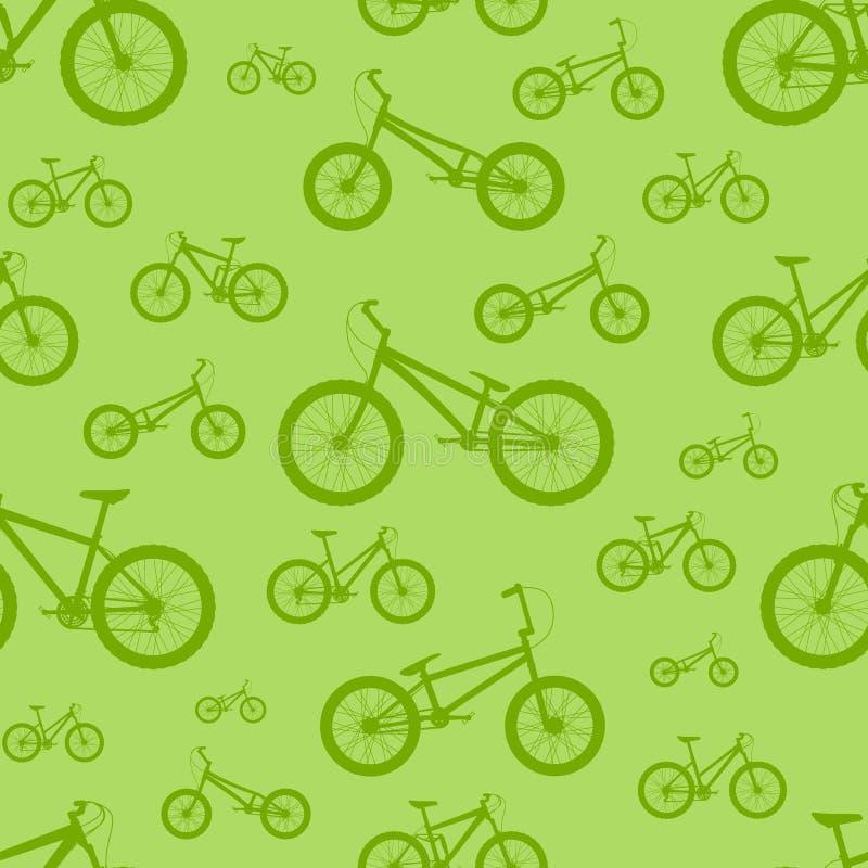 rowerowy deseniowy bezszwowy ilustracji