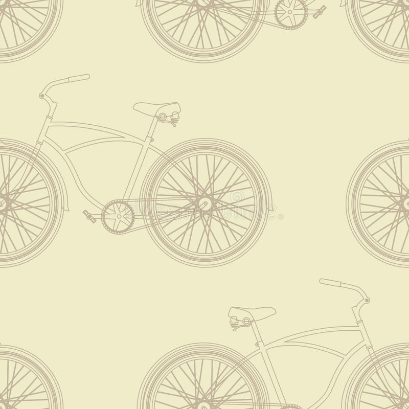 rowerowy deseniowy bezszwowy ilustracja wektor