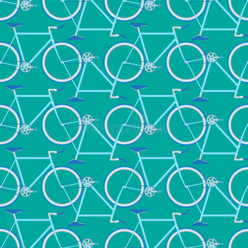 rowerowy deseniowy bezszwowy royalty ilustracja