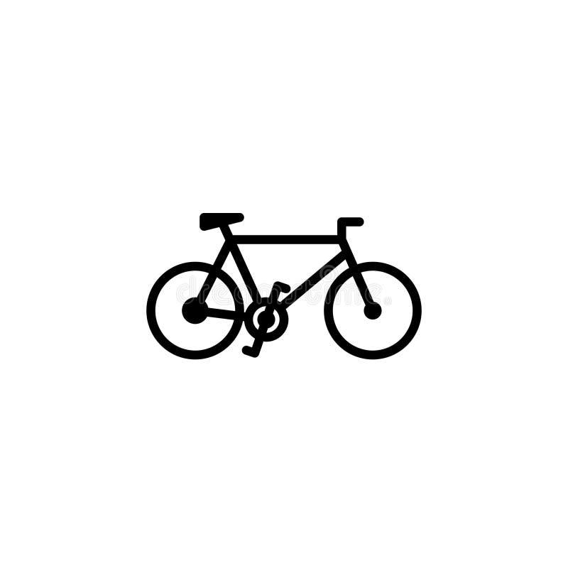 Rowerowy ikona zapas transportów pojazdy odizolowywał wektor ilustracji