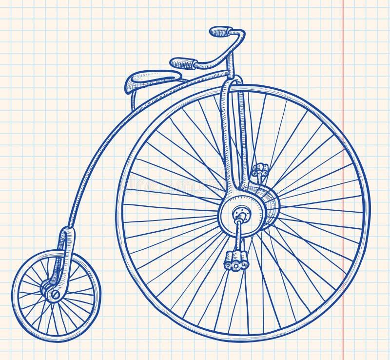 rowerowy retro royalty ilustracja