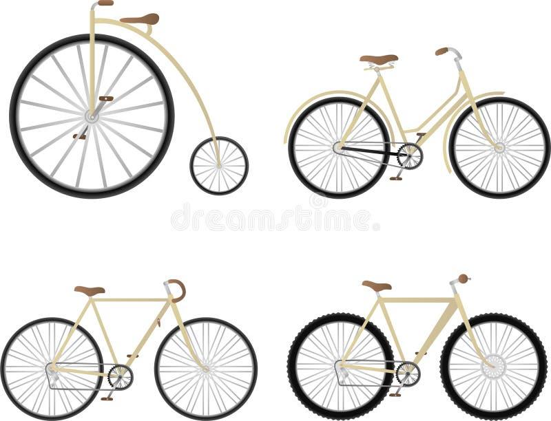 rowerowy set ilustracja wektor