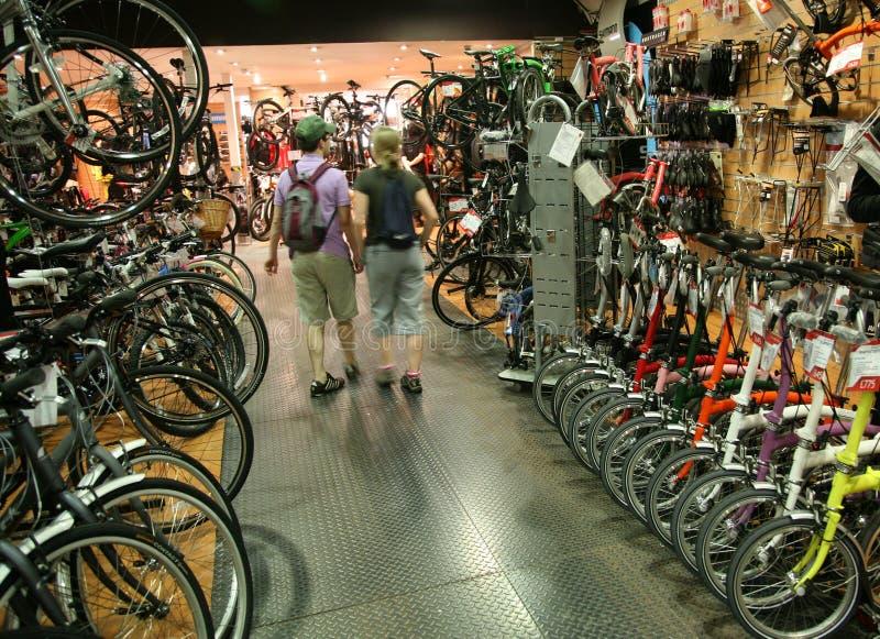 rowerowy sklep fotografia stock