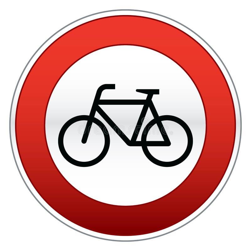 rowerowy szyldowy ruch drogowy royalty ilustracja