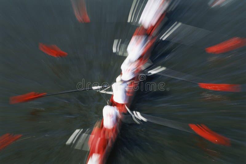 Rowers на реке стоковое изображение rf