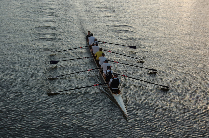 Download Rowers on the river (II) stock image. Image of river, kayak - 364675
