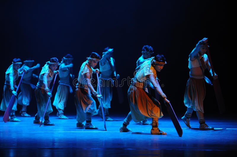Rowers-The second act of dance drama-Shawan events of the past. Guangdong Shawan Town is the hometown of ballet music, the past focuses on the historical stock photography