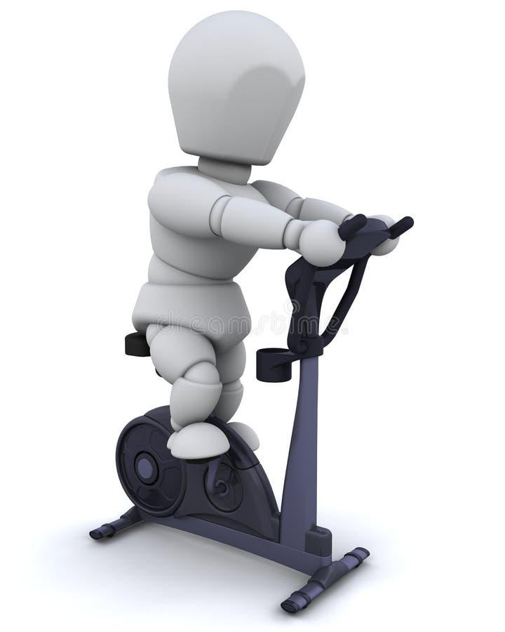 roweru ćwiczenie ilustracja wektor