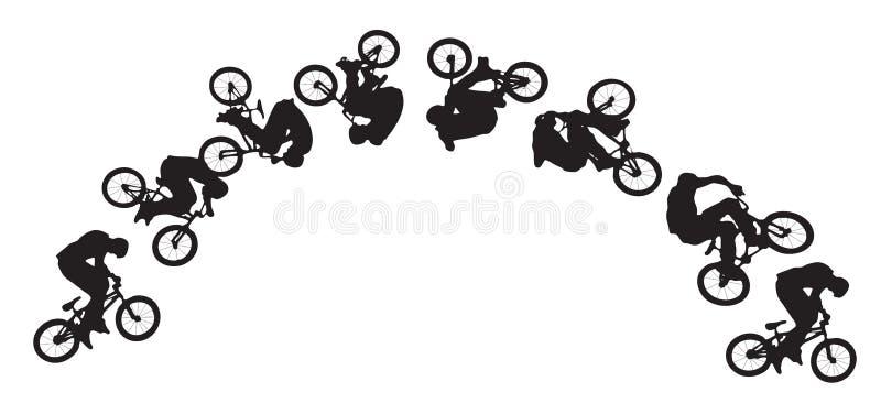 roweru doskakiwania sekwencja ilustracja wektor