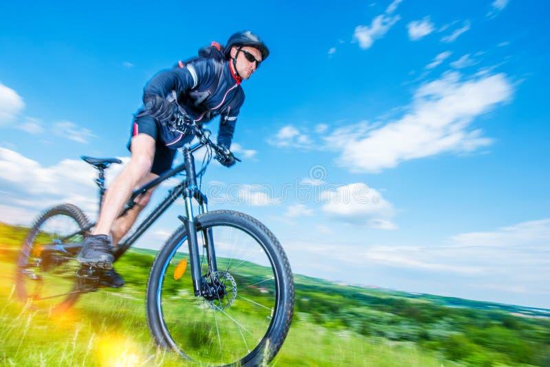 Roweru górskiego jeździec obraz stock