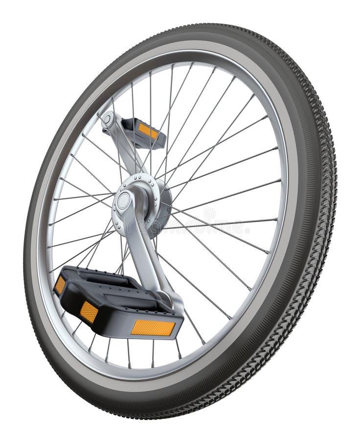 Roweru koło ilustracja wektor