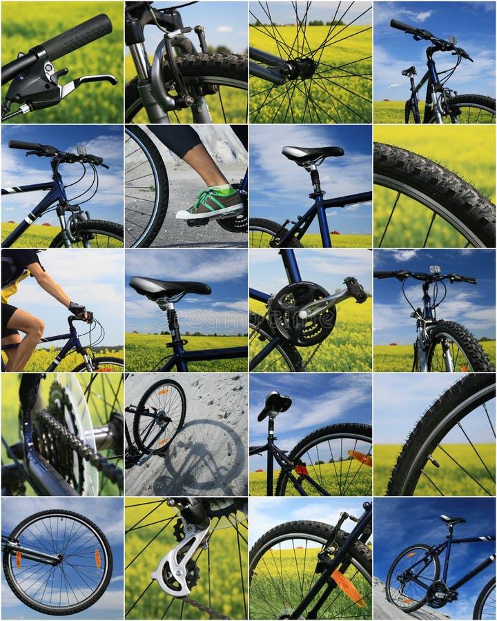 roweru kolaż zdjęcie stock