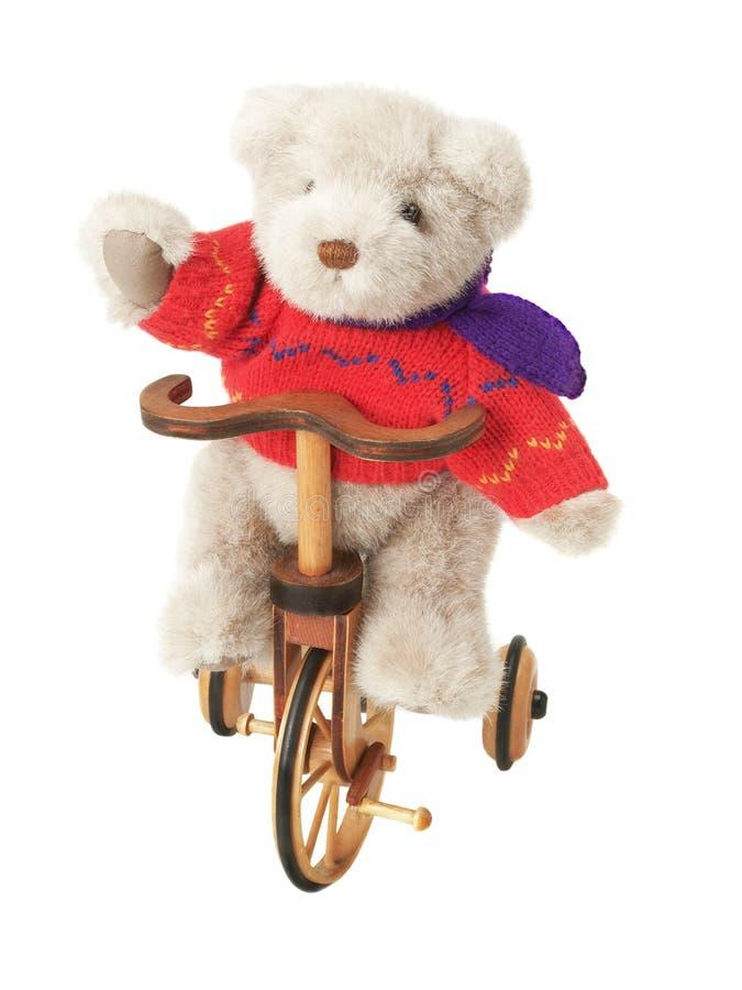 roweru niedźwiadkowy miś pluszowy zdjęcia royalty free