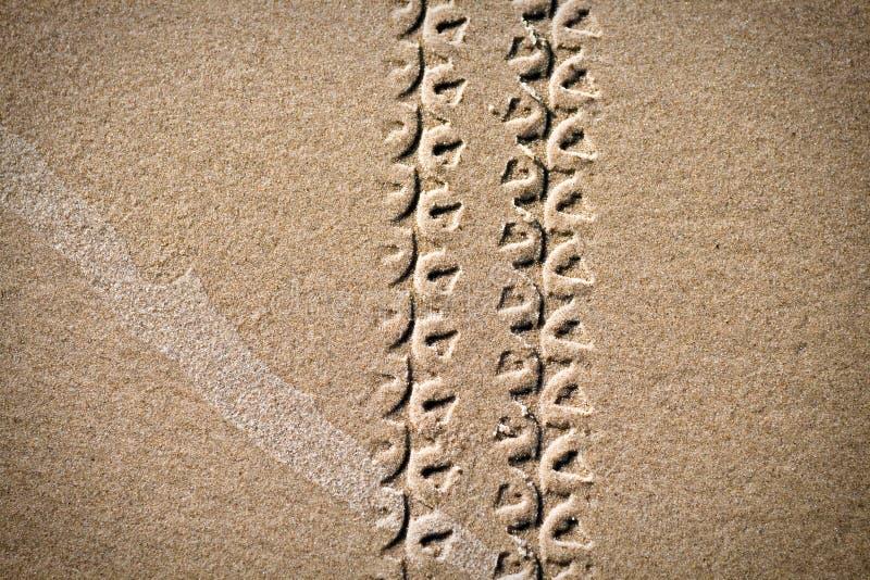 roweru piaska ślada obraz stock