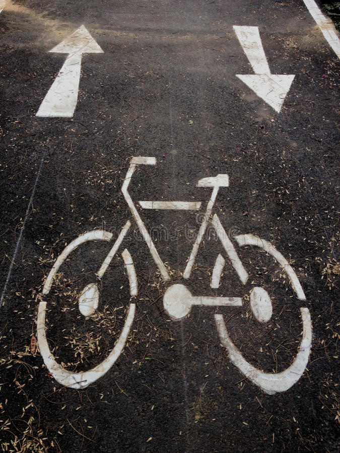 roweru ziemia malujący symboli/lów miastowy sposób obraz stock