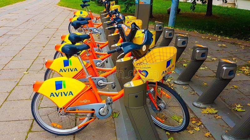 Rowery dla czynszowego Aviva fotografia stock