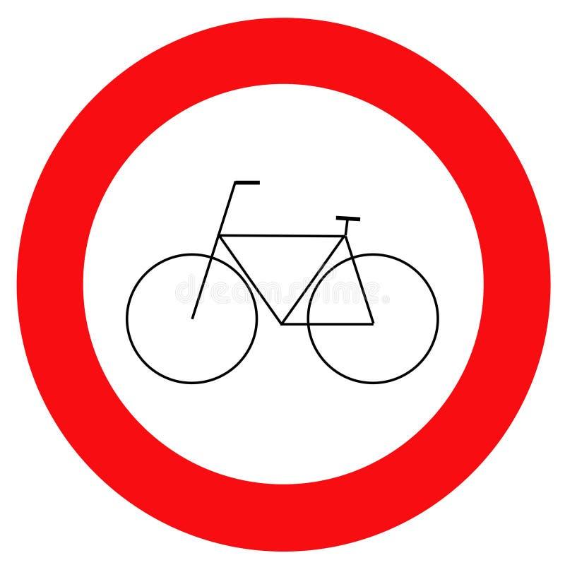 rowerze znak ruchu royalty ilustracja