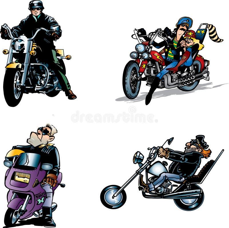 rowerzyści ilustracji