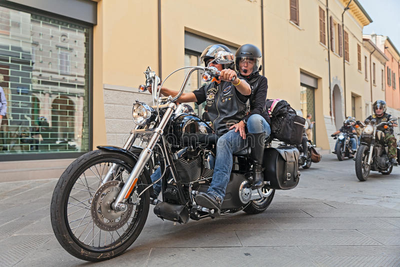 Rowerzyści target567_1_ Harley Davidson zdjęcie royalty free
