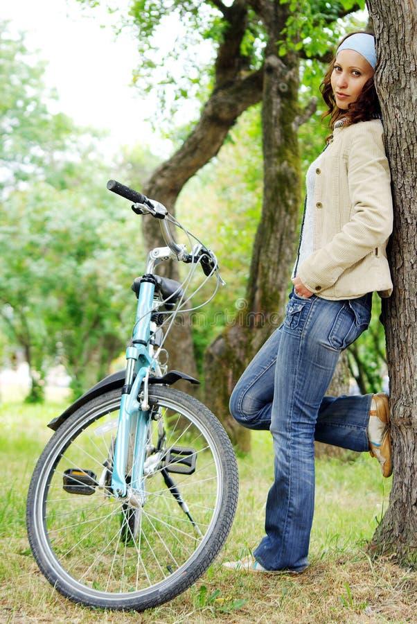 rowerzysta kobieta obraz stock