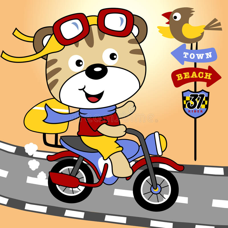 Rowerzysta kreskówka ilustracji