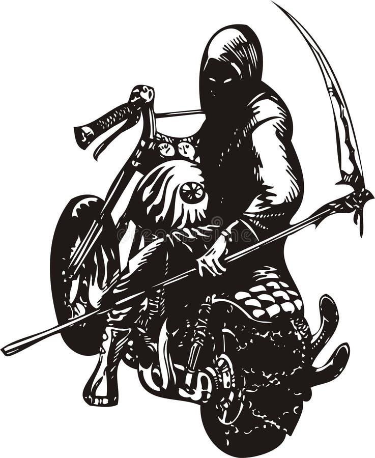 rowerzysta szalony royalty ilustracja