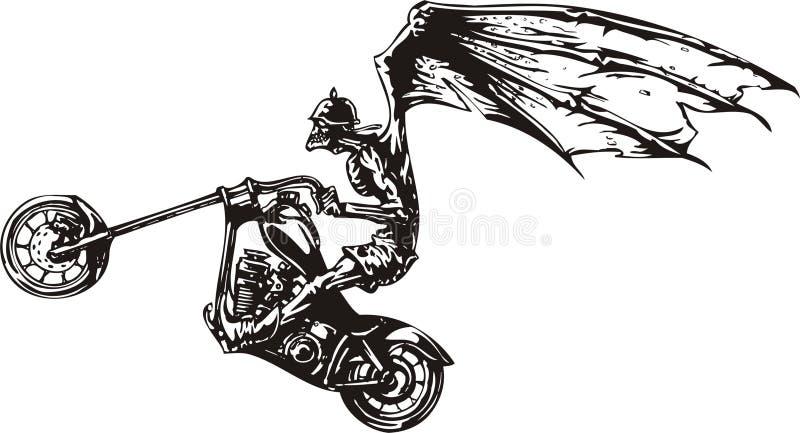 rowerzysta szalony ilustracji