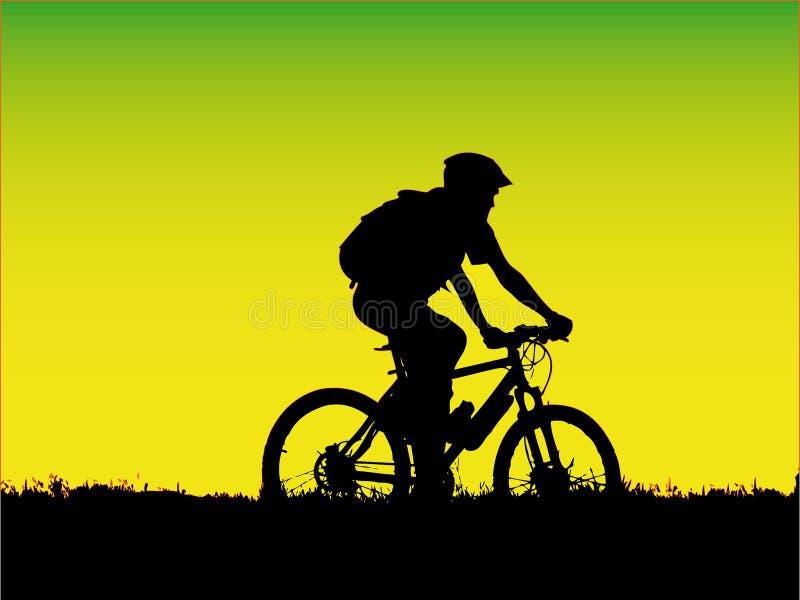 rowerzysty dziewczyny góra royalty ilustracja