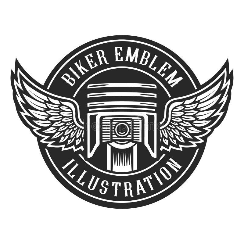 Rowerzysty emblemat royalty ilustracja