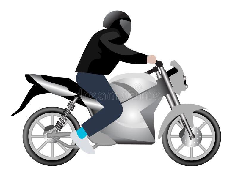 rowerzysty motocykl ilustracji