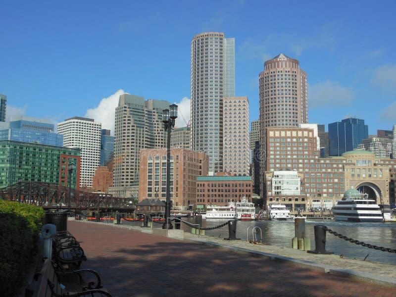 Rowes nabrzeża Boston schronienie obraz stock
