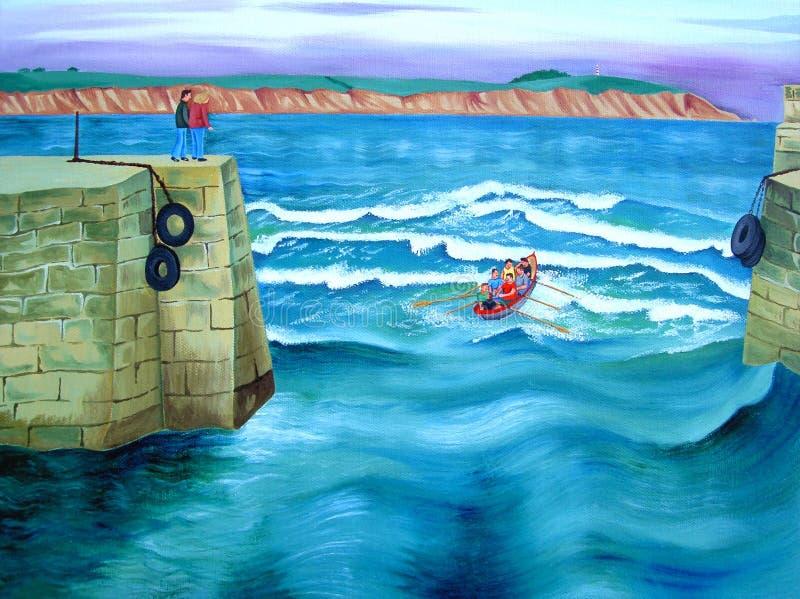 rowing клуба иллюстрация вектора