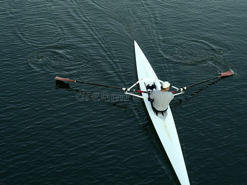Download Rowing stock image. Image of scull, breathe, alone, stroke - 2414403