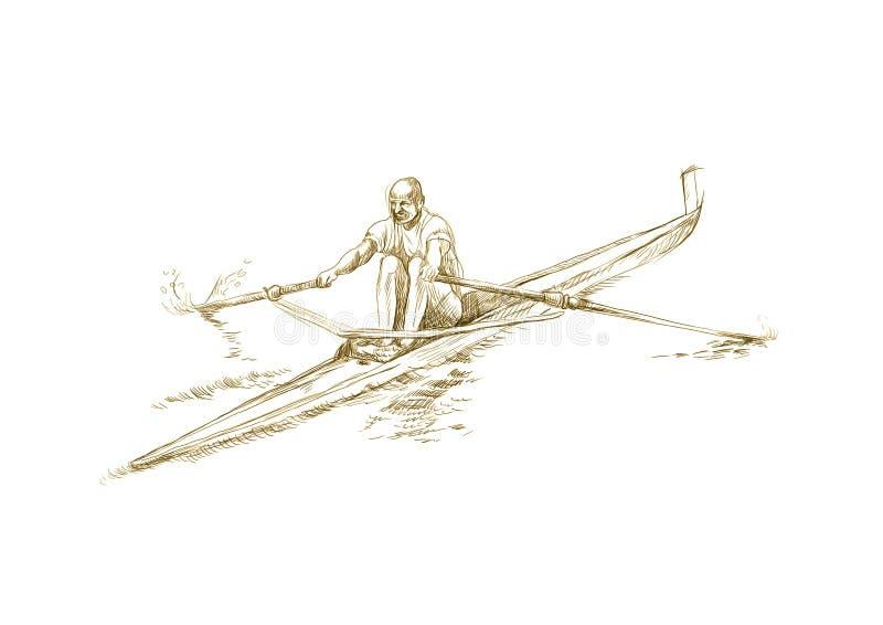 Rowing stock de ilustración