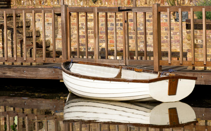 Download Rowing boat stock photo. Image of canal, white, empty - 28642988