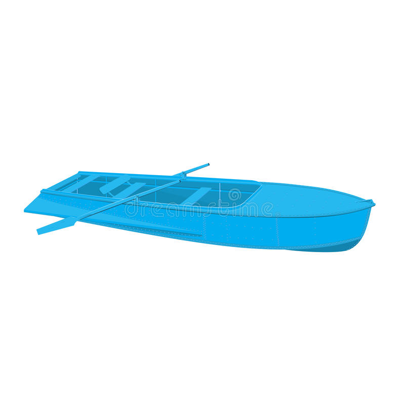 Rowing boat stock illustration