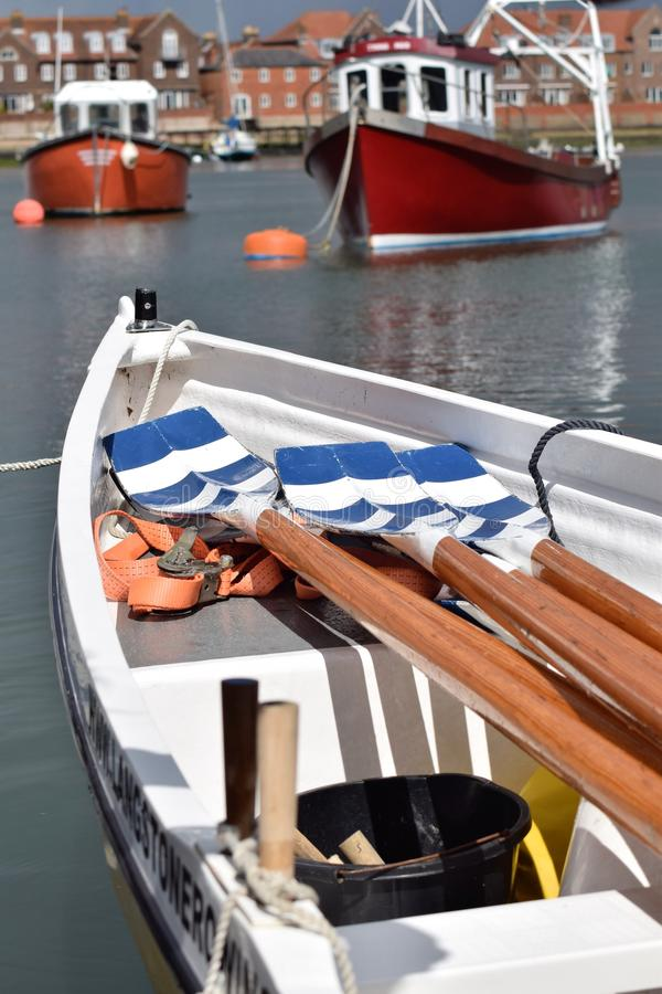 Rowing boat. stock images