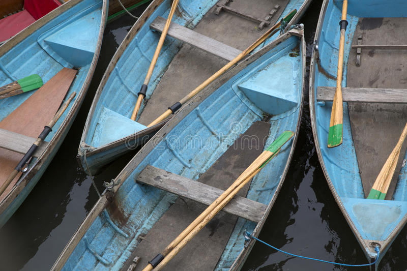 Rowing Boats for Hire, Oxford. England, UK stock photo