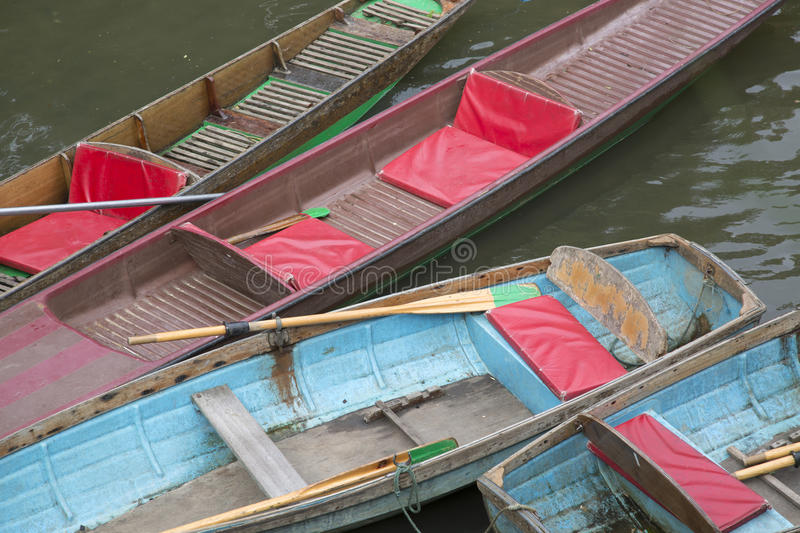 Rowing Boats for Hire, Oxford. England, UK stock images