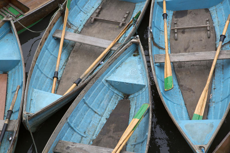 Rowing Boats for Hire, Oxford. England, UK stock photography