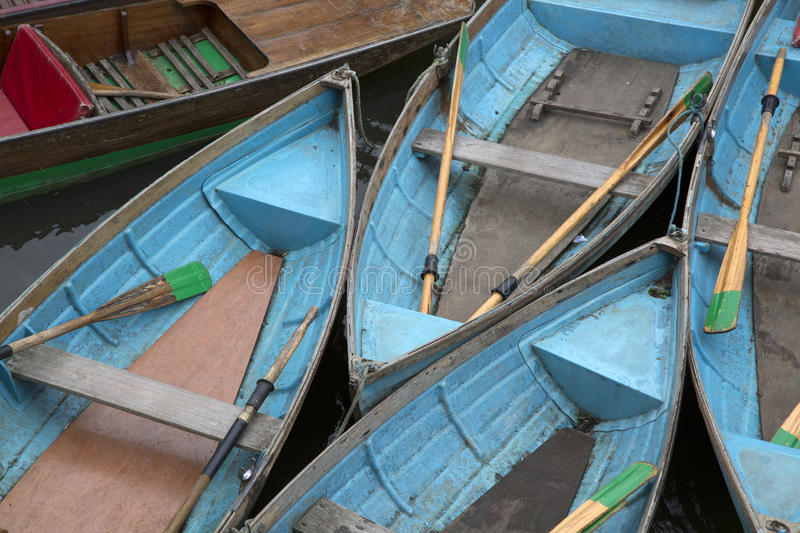 Rowing Boats for Hire, Oxford. England, UK royalty free stock photos
